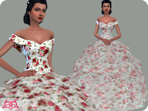 Sims 4 — Wedding Dress 17 RECOLOR 1 (Needs mesh) by Colores_Urbanos — 9 Options Need mesh, look at recommended. or