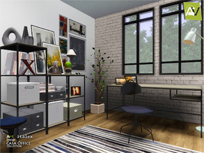 Sims 3 — Casa Office by ArtVitalex — - Casa Office - ArtVitalex@TSR, Mar 2018 - All objects are recolorable - Casa Shelf