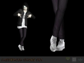 Sims 3 — Sneakers #3 by Shushilda2 — Conversion from the game Tony Hawk Low poly | recolorable channels | CAS and