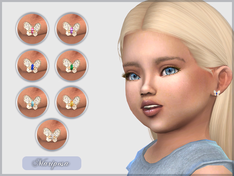 Mariposa Earrings For Toddlers