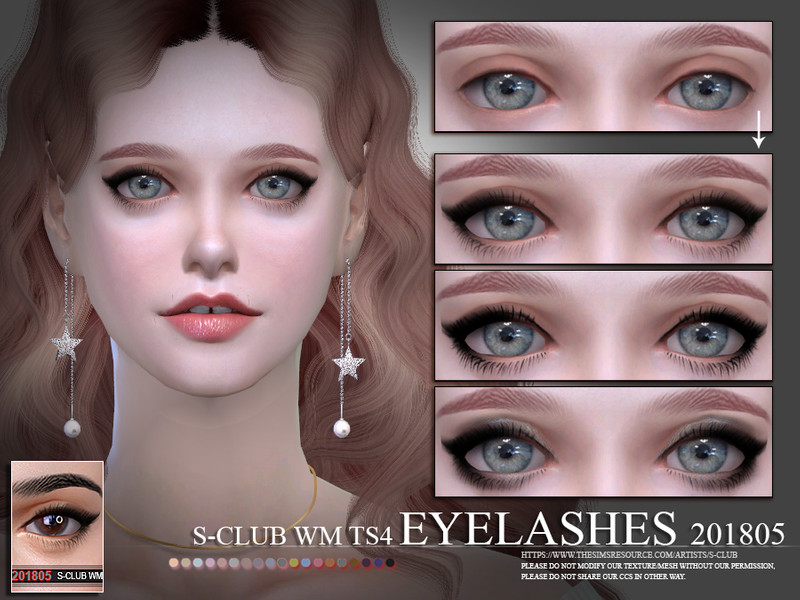 a4d8b4737db S-Club WM ts4 eyelashes 201805