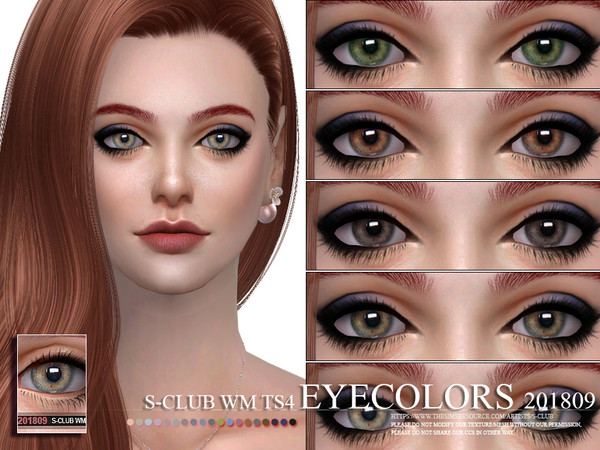 S-Club WM ts4 Eyecolors 201809