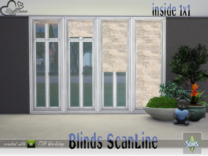 Sims 4 — Blinds ScanLine Inside by BuffSumm — Matching blinds for the ScanLine Windows... This part is for the inside of
