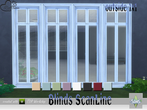 Sims 4 — Blinds ScanLine Outside by BuffSumm — Matching Blinds for the outside of the ScanLine window set... have fun