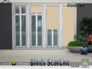 Sims 4 — Recolor Blinds ScanLine Inside by BuffSumm — Recolor in uni for the inside blinds of the ScanLine Blinds set...