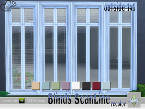 Sims 4 — Recolor Blinds ScanLine Outside by BuffSumm — Black Frame instead of a White frame for the ScanLine Outside