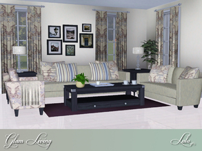 Sims 3 — Glam Living  by Lulu265 — A little bit of shabby and lots of chic make this set perfect for any living room. 3