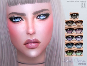 Sims 4 — [ First Class ]  - Eye Mask by Screaming_Mustard — A set of fun sparkly eye colours. For males and females,