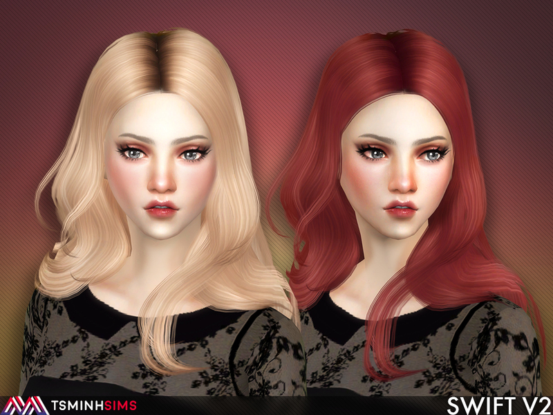 Woman Hair _ Long Hairstyle Fashion The Sims 4 _ P11 ...