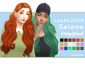 Sims 4 — Leah Lillith Selene Clayified - Mesh needed by furansims — Leah Lillith Selene hair Clayified - All EA colours -
