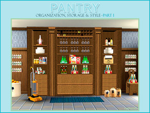 Sims 3 — Pantry Part I by Cashcraft — Lovers of organization, rejoice! Pantry Part I, is made for you and includes 8 new