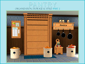 Sims 3 — Pantry Part II by Cashcraft — Pantry Part II includes 8 additional new objects for the Sims 3 game, which