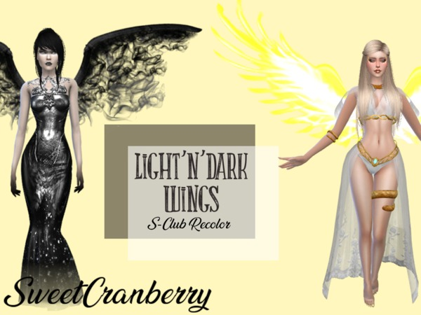 Sweetcranberry S Light And Dark Wings Sclub Recolor