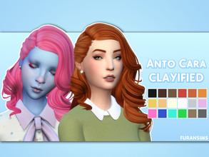 Sims 4 — Anto Cara Clayified - Mesh needed by furansims — Anto Cara hair Clayified - All EA colours - M/F (some clipping