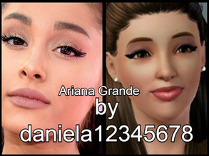Sims 3 — Ariana Grande  by daniela12345678 — Ariana Grande, I created this Sim. I used Nightcrawler-Break Free's hair