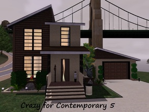 Sims 3 — Crazy for Contemporary 5 by Jujubee77 — One bedroom, 1.5 bath home with a retro feel. Separate dining room,
