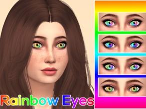 Sims 4 Eye Colors - 'rainbow'