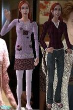 Sims 2 — Willow Wear Set 2 by Vanilla_Love — Some more clothes for Willow from Buffy the vampire Slayer