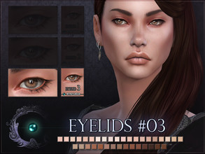 Sims 4 — Eyelids 03 by RemusSirion — Mono eyelid detail for Sims 4! It comes in 35 colours that fit to most skintones. If