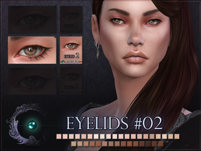 Sims 4 — Eyelids 02 by RemusSirion — Hooded eyelid detail for Sims 4! It comes in 35 colours that fit to most skintones.