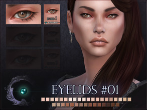 Sims 4 — Eyelids 01 by RemusSirion — Double eyelid detail for Sims 4! It comes in 35 colours that fit to most skintones.