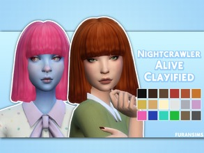 Sims 4 — Nightcrawler Sims Alive Clayified - Mesh Needed by furansims — Nightcrawler Sims Alive hair Clayified - All EA