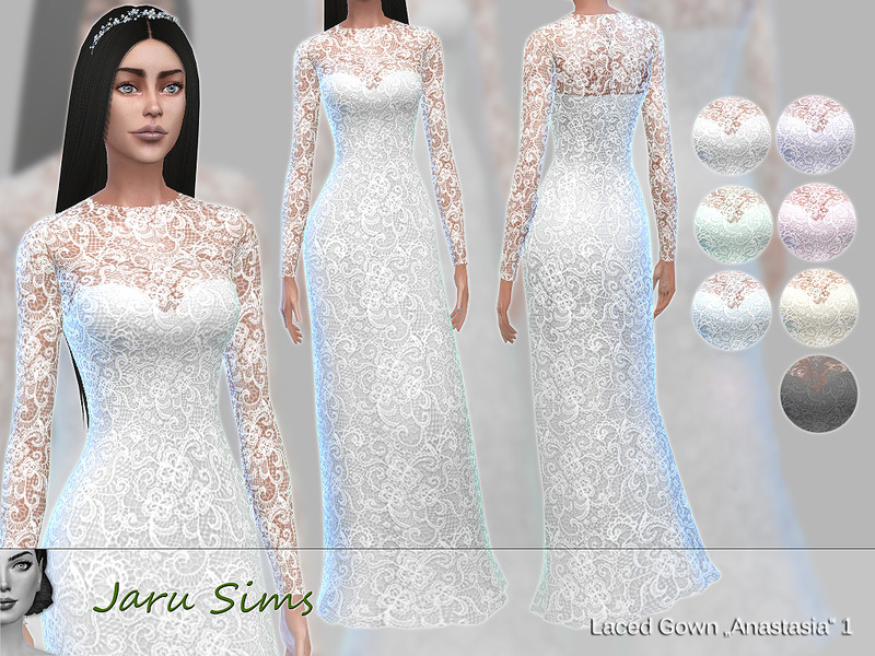 Jaru Sims\' Laced Gown Anastasia 1 - City Living needed