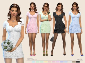 Sims 4 — Gently ... by Paogae — Lace minidress, twelve delicate colors, perforated pattern on the sleeve, to use in a
