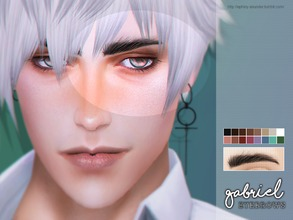 Sims 4 — [ Gabriel ] - Eyebrows by Screaming_Mustard — New eyebrows for Sims. For males, toddler +. With custom thumb
