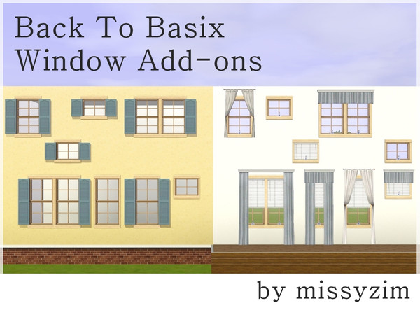 MZ Back to Basix Window Add-ons by missyzim