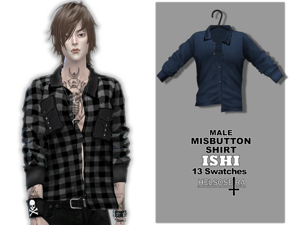 ISHI - Misbutton Shirt - Male by Helsoseira