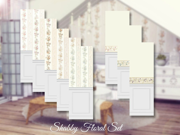 Shabby Chic Floral Set by Sooky