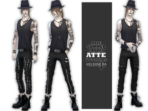 Sims 4 Male Clothing - 'goth'