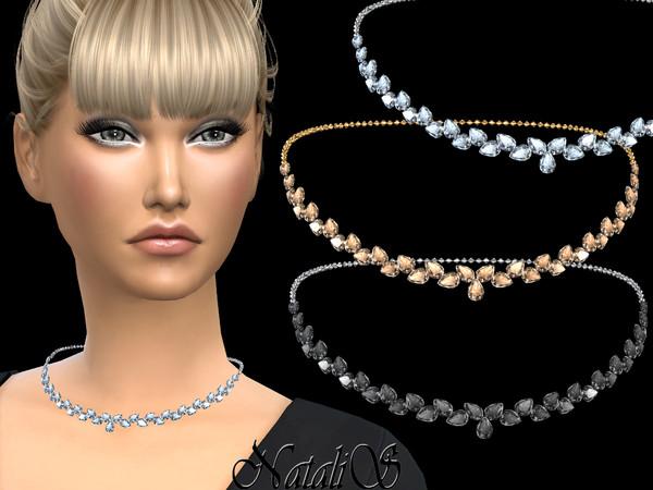 NataliS_Pear cut crystals necklace