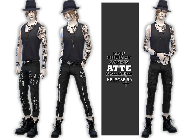 ATTE - Summer Capris Pants - Male by Helsoseira