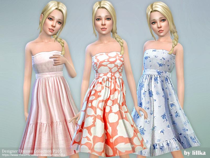 Lillka Designer Dresses Collection P Sims
