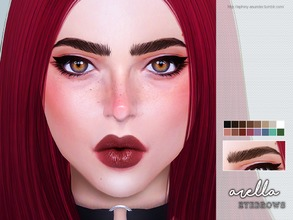 Sims 4 — [ Arella ] - Brows by Screaming_Mustard — New eyebrows for Sims. For females, toddler +. With custom thumb