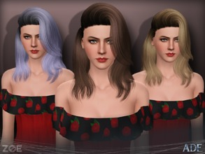 Sims 3 — Ade - Zoe by Ade_Darma — New Hair Mesh No Morph all Bones assigned All LODs