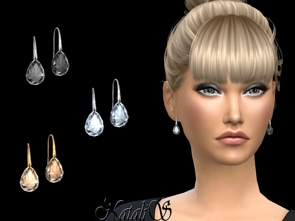NataliS_Pear cut crystal earrings