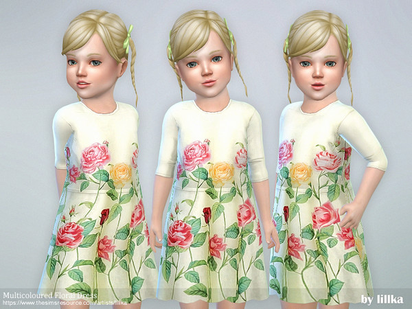 Multicoloured Floral Dress by lillka