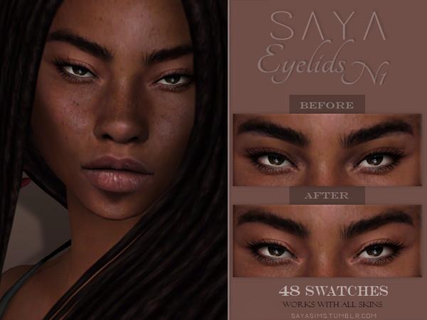 Eyelids N1 by SayaSims