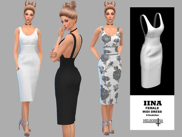 IINA - Midi Dress by Helsoseira