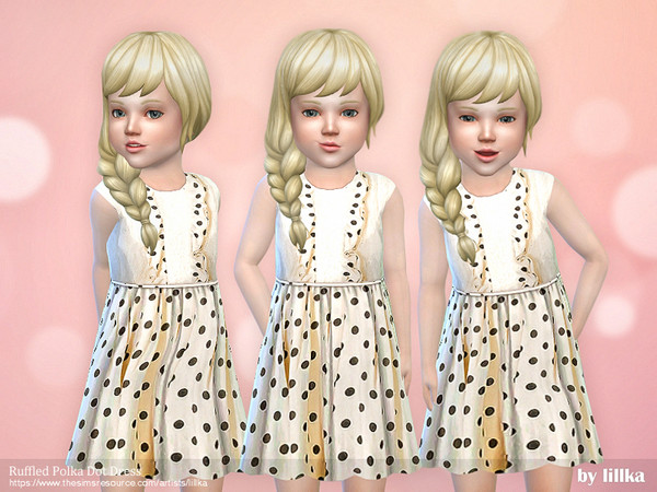Ruffled Polka Dot Dress by lillka