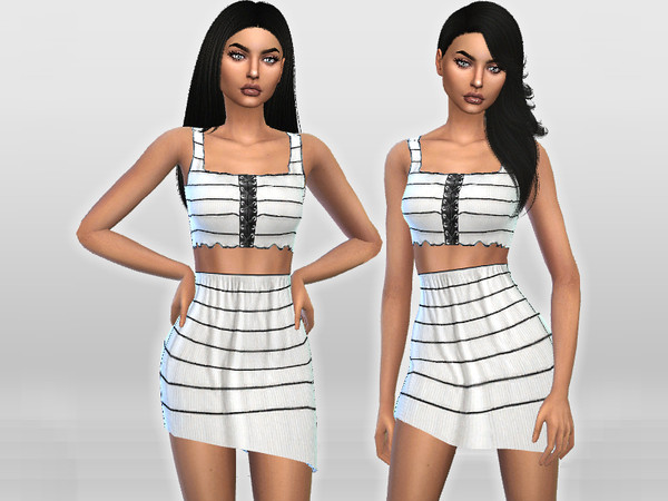 Two-Piece Striped Dress by Puresim