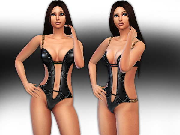 Latex Chain Monokini by Saliwa