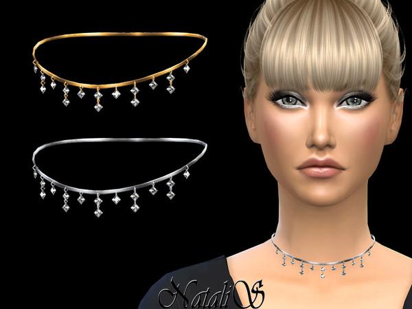 NataliS_Pendant crystals choker