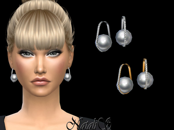 NataliS_Oval hoop earrings with pearl