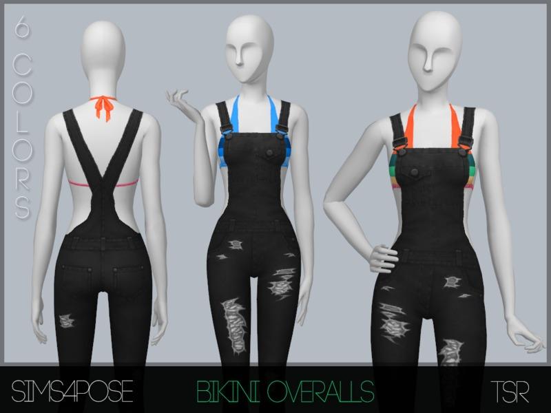 Sims4Pose's S4P Bikini Overalls