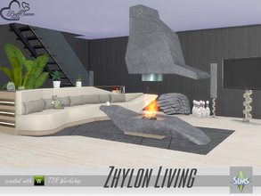 Sims 4 — Zhylon Livingroom by BuffSumm — Modern, clean, cosy... Zhylon... You get a livingroom in a modern style with