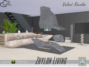 Sims 4 — Zhylon Livingroom Recolor Set by BuffSumm — A recolor of some parts of the Zhylon Livingroom Set...